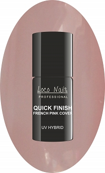 Hybryda QUICK FINISH French Pink Cover LOCO NAILS  5 ml